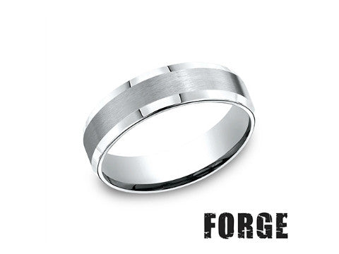 High Polished & Satin Cobalt Chrome Wedding Band