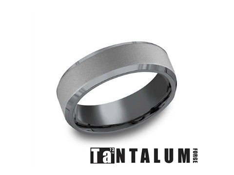 Satin Tantalum Wedding Band