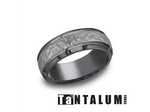 Dual Finish 14K Two Tone Gold Wedding Band