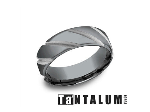 Satin Cobalt Chrome Wedding Band