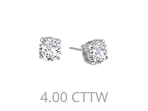 Simulated Diamond Studs in Sterling Silver