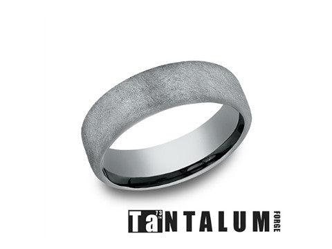 Swirled Finish Tantalum Wedding Band