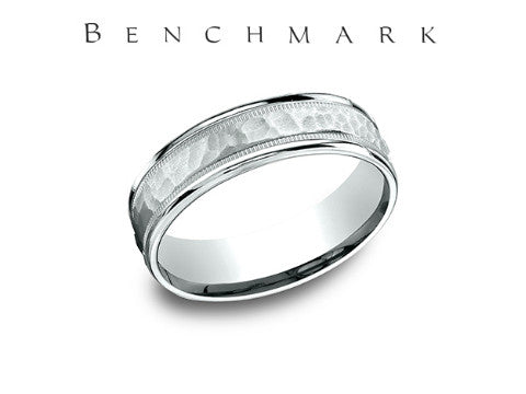 Mesh Center 14K Yellow Gold Wedding Band