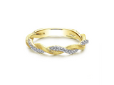 Diamond Braided Band in 14K Yellow Gold