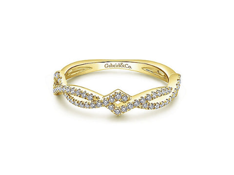 Diamond Entwined Ring in 14K Yellow Gold