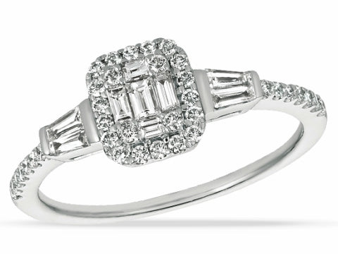 Diamond Buckle Style Band in 14K White Gold