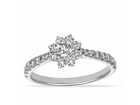 Diamond Cocktail Ring in 14K White Gold