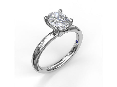 Diamond Saddle Halo Engagement Setting in 14K White Gold