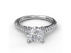 Diamond Engagement Setting in 14K White Gold