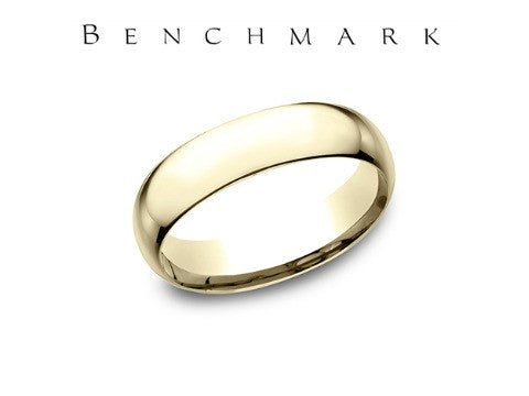 High Polish 14K White Gold Wedding Band