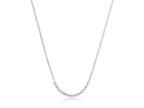 Modern Multiple Ball Necklace in Sterling Silver