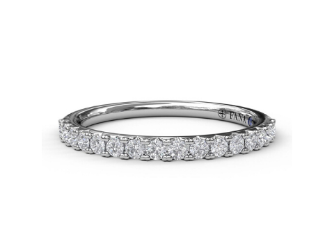 Diamond Band in 14K White Gold