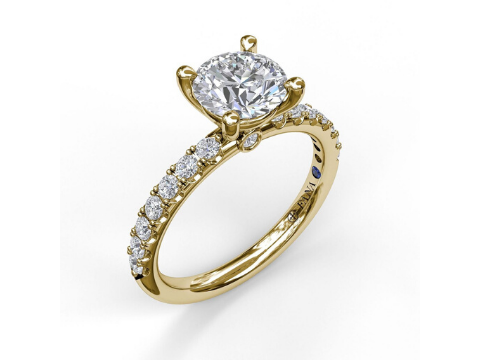 Diamond Engagement Setting in 14K Yellow Gold