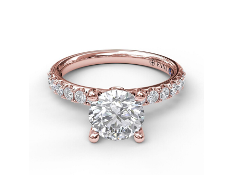 Diamond Engagement Setting in 14K Rose Gold
