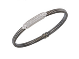 Diamond Station Bangle in 18K Black Rhodium Gold