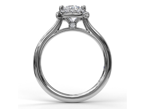 Diamond Halo Engagement Setting in 14K White Gold