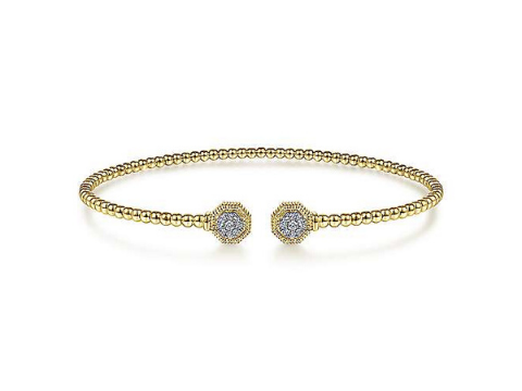 Diamond Fashion Bangle in 14K Yellow Gold
