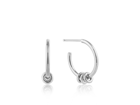 Modern Hoop Earrings in Sterling Silver