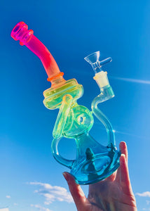NEON RAINBOW RECYCLER BONG or RIG