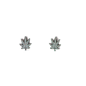 POT LEAF EARRING STUDS