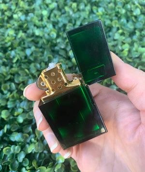TORTOISE SHELL LIGHTER - EMERALD
