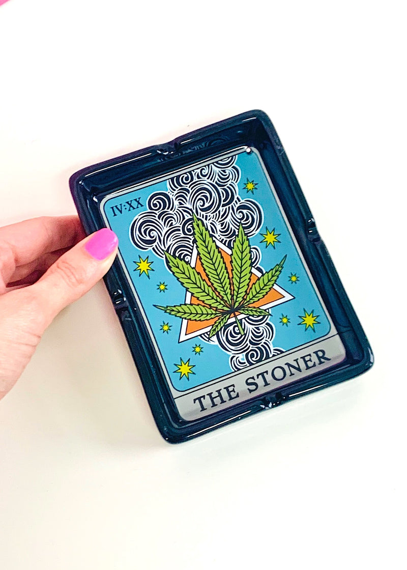 TAROT CARD CERAMIC ASHTRAY
