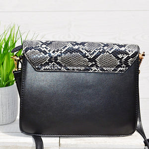 Darling Dear Black Snakeskin Purse - Birdsong Designs Online
