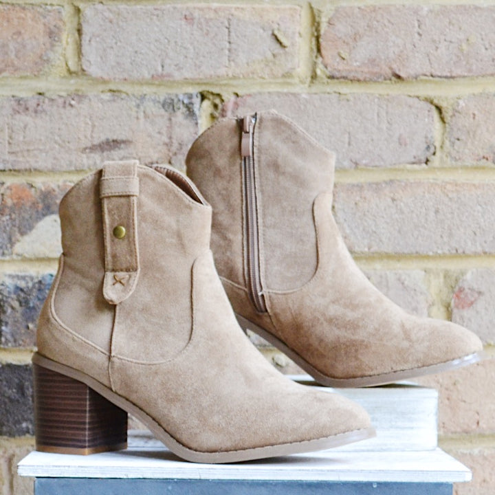 Lady Kate Taupe Booties - Birdsong Designs Online