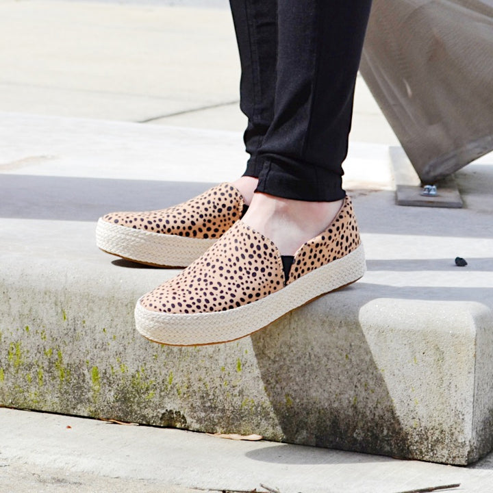 Killa Leopard Print Slip On Sneakers by Madeline Girl - Birdsong Designs Online