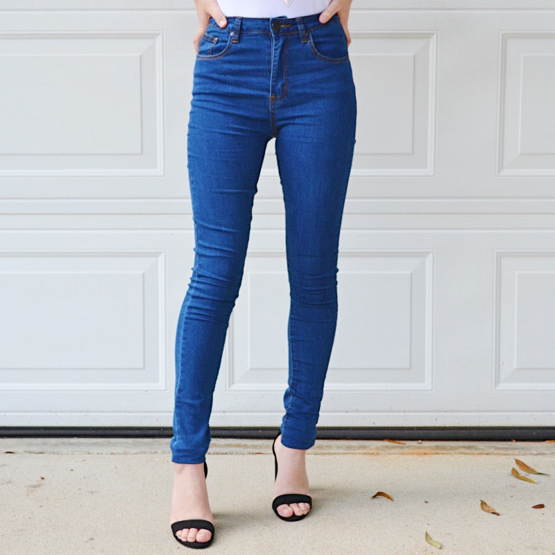 Lady Lovely Super Skinny High Rise Jeans - Birdsong Designs Online