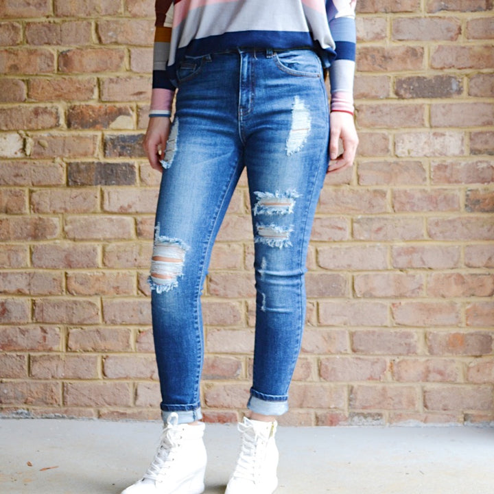 Looking Good High Waist Skinny Fit Jeans - Birdsong Designs Online