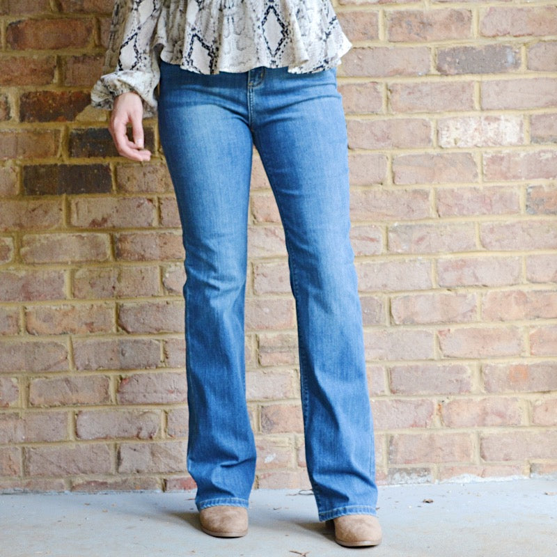 Showing Off Flare Jeans - Birdsong Designs Online
