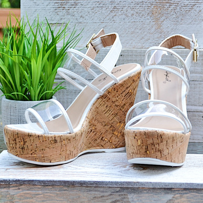 Dazzling Darling Clear & White Wedges - Birdsong Designs Online
