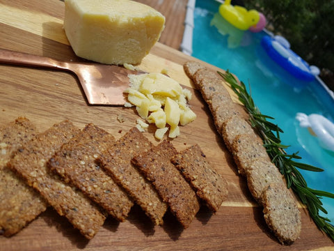 Keto Rosemary & Olive Oil Hemp Seed Crackers