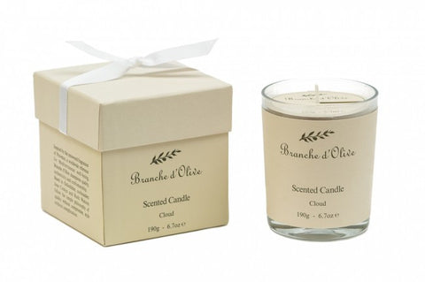 Boxed Scented Candle (Mineral Wax) - Cloud