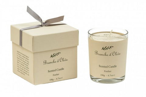Boxed Scented Candle (Mineral Wax) - Feather