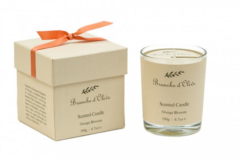 Boxed Scented Candle (Mineral Wax) - Fleur d'Oranger (Orange Blossom)