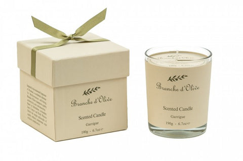 Boxed Scented Candle (Mineral Wax) - Garrigue