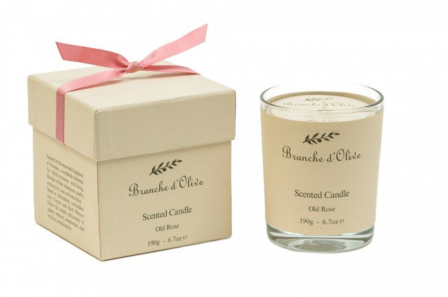 Boxed-Scented-Candle-(Mineral Wax)-Rose-by-branche-d-olive-from-www.rawxclusive.co.uk