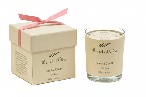Boxed Scented Candle (Mineral Wax) - Rose