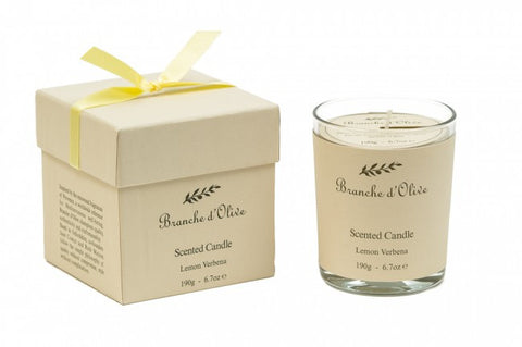 Boxed Scented Candle (Mineral Wax) - Verveine (Lemon Verbena)