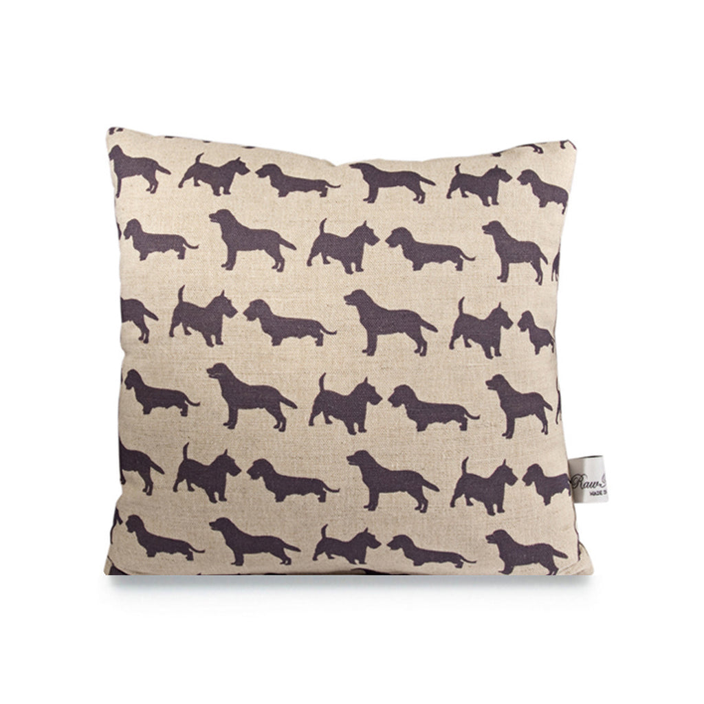 Linen Cushion - Dogs