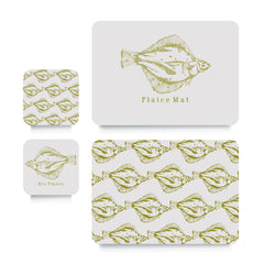 Coaster or Placemat - Plaice Lime