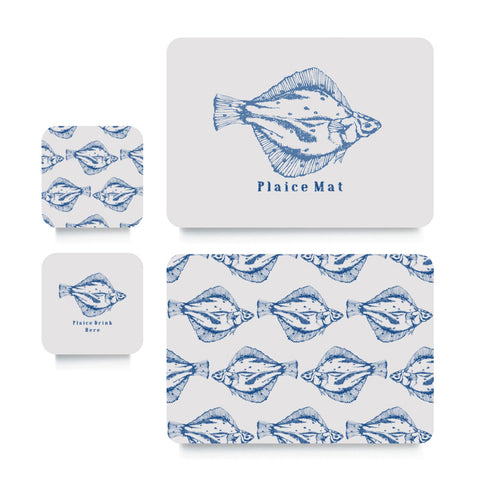 Coaster or Placemat - Plaice Blue