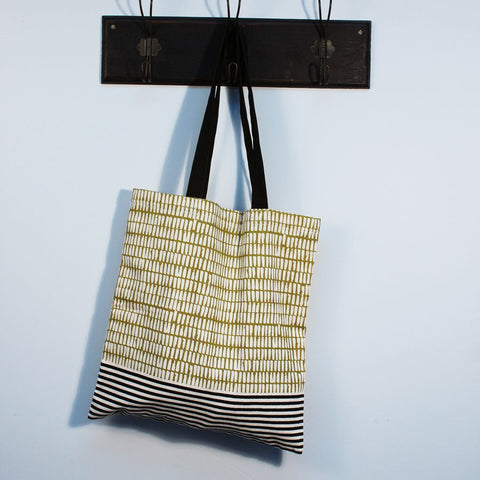 Mustard Cotton Tote Bag