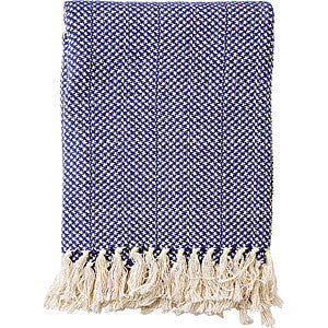 Cotton Throw - Blue