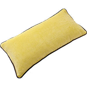 Cotton Velvet Rectangle Cushion - Lemon