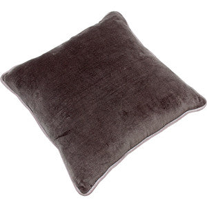 Cotton Velvet Square Cushion - Dusky Grey