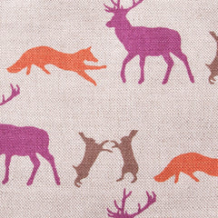 Animals Linen Fabric