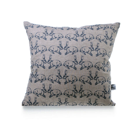 Square Linen Cushion - Bunnies